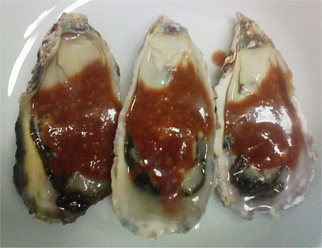 牡蠣のカクテルソース